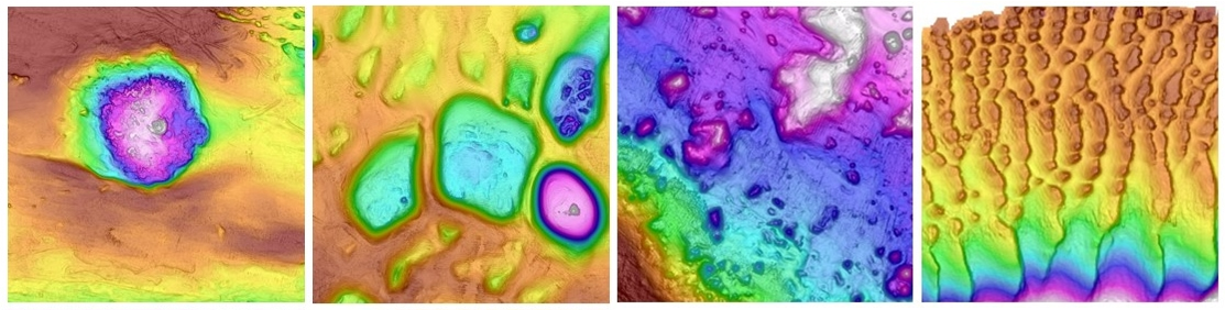 The Kerguelen Kaleidescope lends a riot of colour to seafloor features.