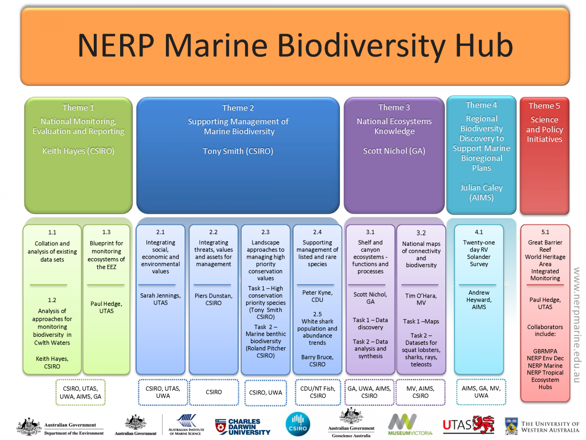 NERP Marine Biodiversity Hub Project/Theme structure