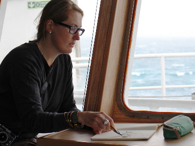 Artist Annalise Rees finds inspiration at sea.