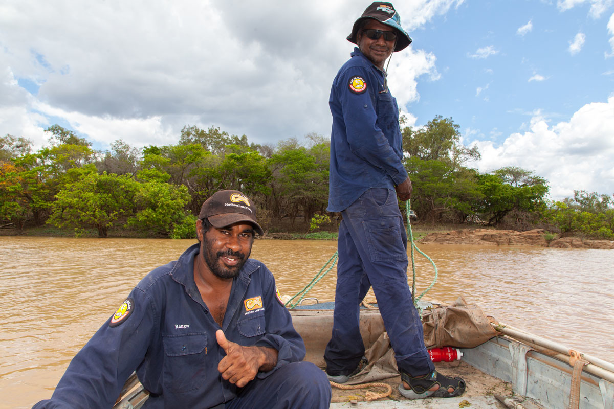 Malak Malak rangers on the Daly River