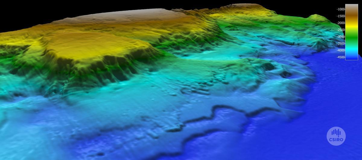 East Gippsland CMR bathymetry map