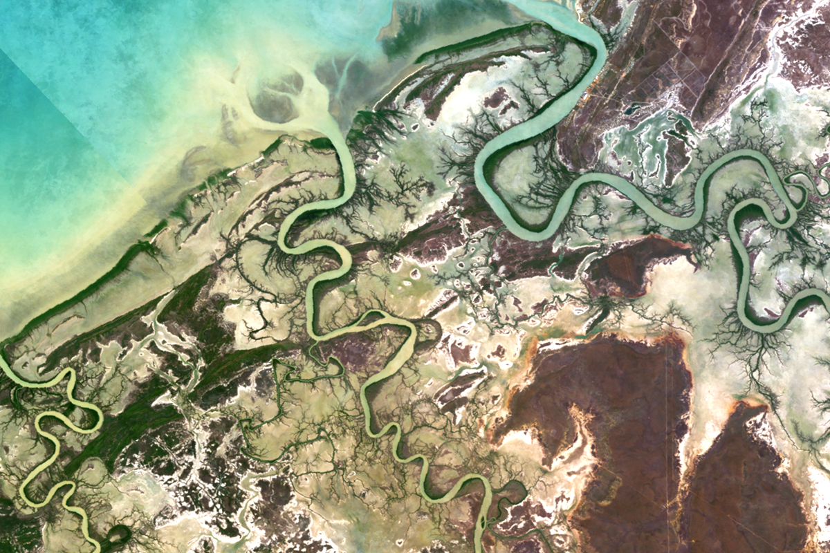A composite image of the Flinders River estuary, NT