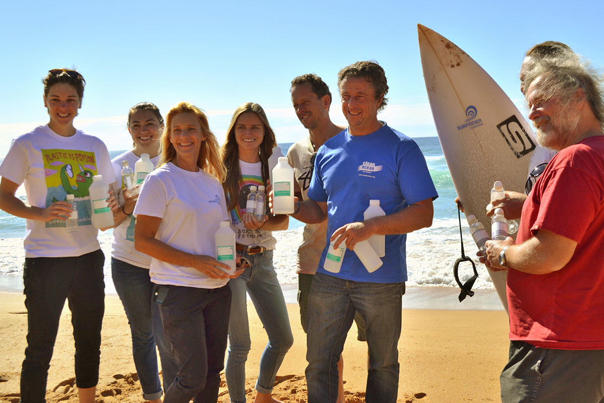 Surfrider Northern Beaches members with John Gemmill