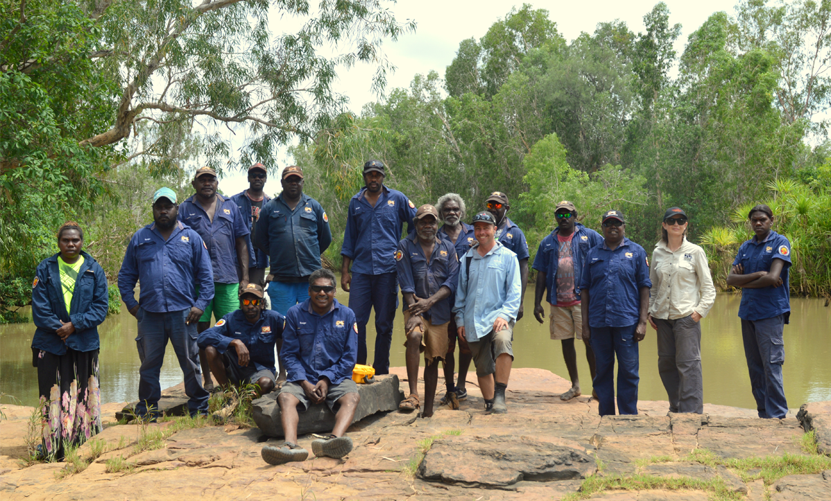 Scientists and Indigenous rangers at Roper River, NT