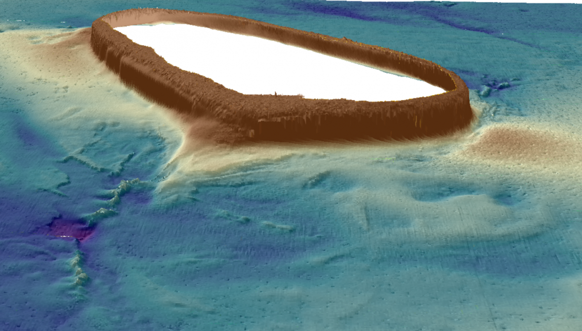 A 3D bathymetry map of Money Shoal in Arafura Marine Park