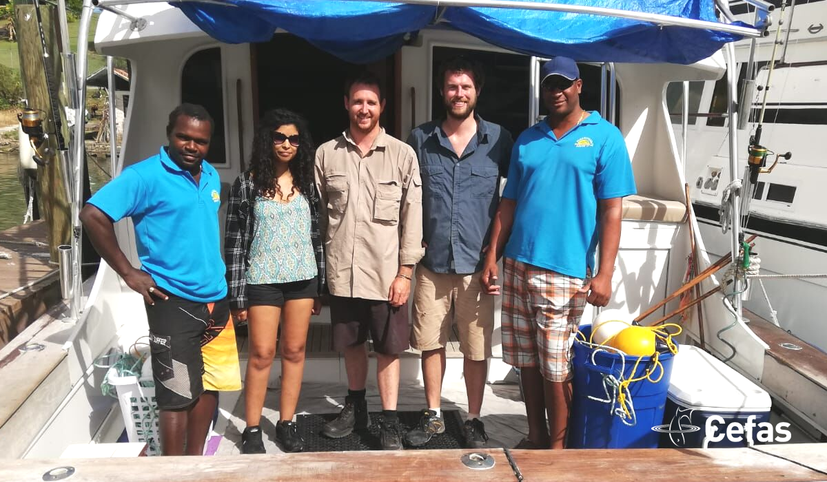 The BRUVS survey team at St Lucia