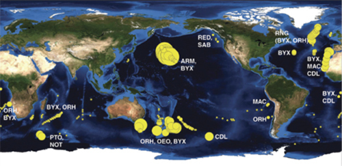 A map of world seamount fisheries