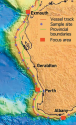 Map of sample sites from the 2005 survey of Australia's western continental margin.  Image CSIRO
