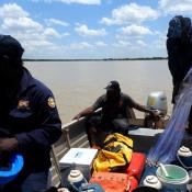 Malak Malak rangers survey threatened river sharks in northern Australia.